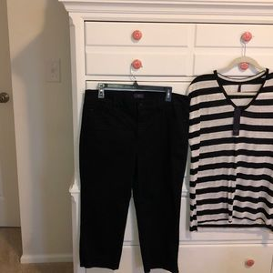 NYDJ SZ 12 Black Crop Pants Pristine Condition